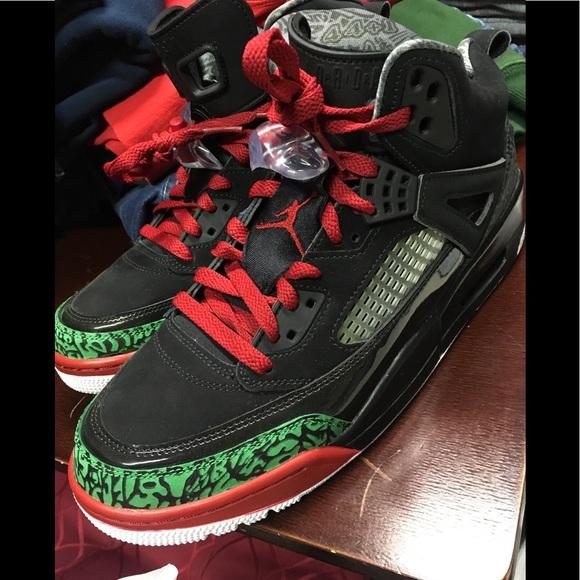 new concept ee654 40407 Jordan Other - Jordan Spizike Black Red Green Sneakers Sz 9